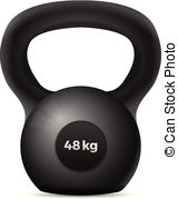 160x179 Sport Kettle Bell Icon. Vector Kettlebell Icon. Outline Gym Weight