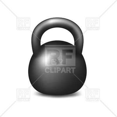 400x400 Athletic Kettlebell On White Background Vector Image Vector