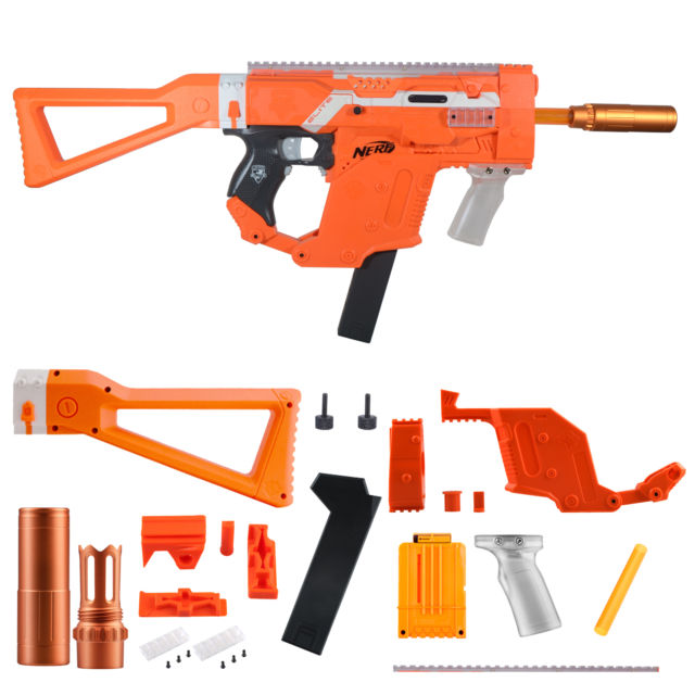 640x640 Worker Mod Kriss Vector Kits Combo 12 Items For Nerf Stryfe Toy