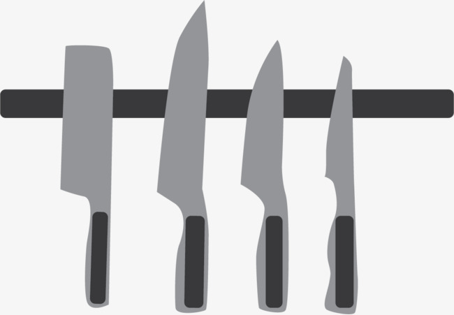 650x451 A Set Of Vector Kitchen Knives, Kitchen Vector, Vector, Hanging