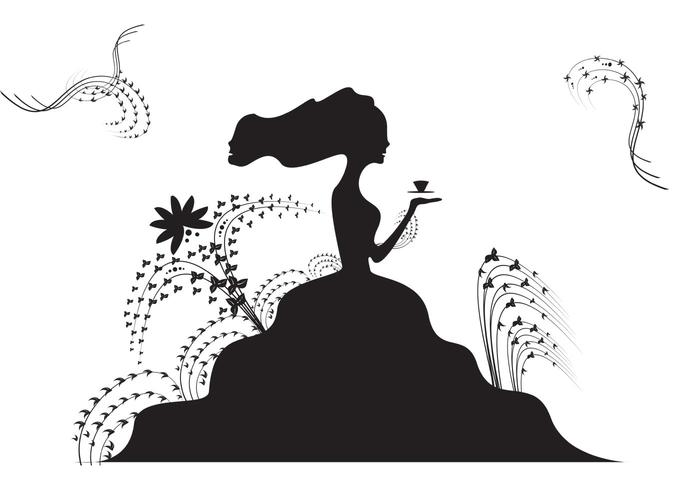 700x490 Free Lady With A Tea Cup Vector