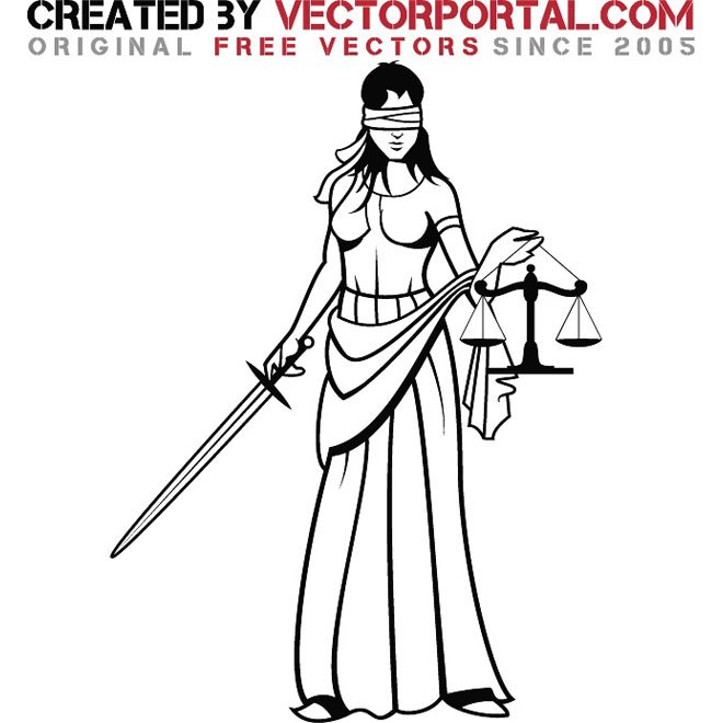 660x660 Lady Justice Graphics Free Vector 123freevectors