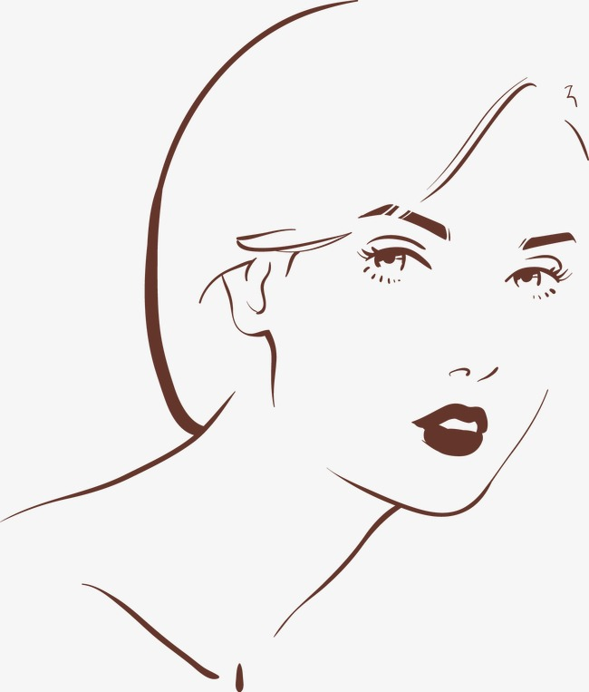 650x763 Lady Outline, Vector, Lady, Contour Png And Vector For Free Download