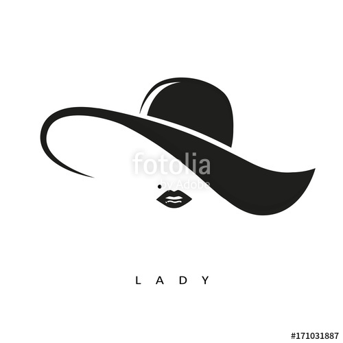 500x500 Lady Mit Hut Stock Image And Royalty Free Vector Files On Fotolia