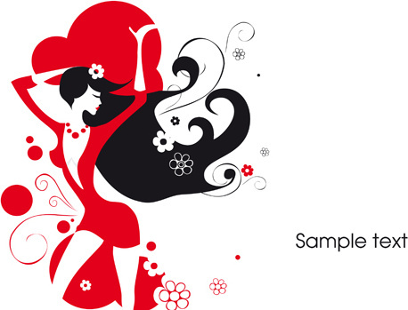 458x349 Beautiful Lady Vector Free Vector Download (10,540 Free Vector