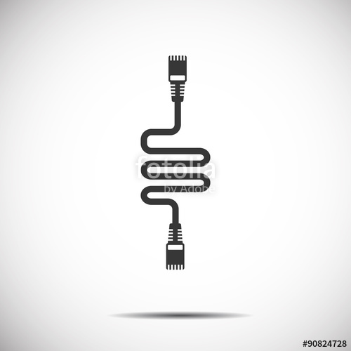 500x500 Lan Wire Cable Computer Icon Stock Image And Royalty Free Vector