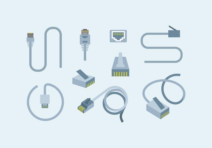 700x490 Internet Lan Cable Vector Stock