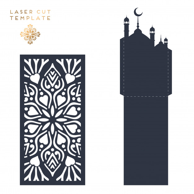 626x626 Laser Cut Islamic Pattern Vector Free Download