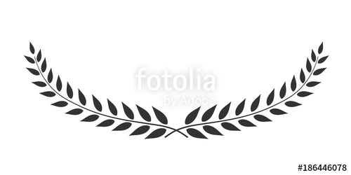 500x250 Laurel Wreath Oval Shaped Vector Isolated On White Background