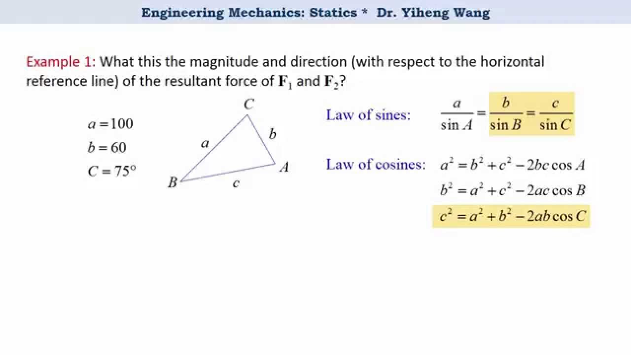 1280x720 2015] Statics 04 Vector Operation, Parallelogram Law And Triangle