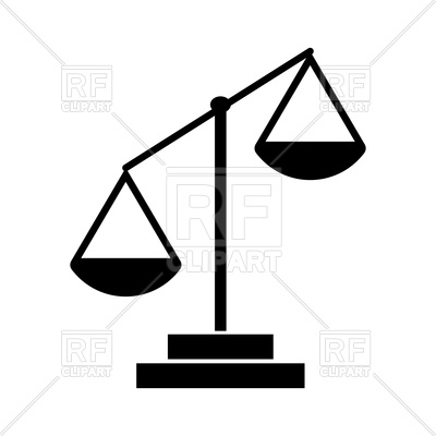 400x400 Law Scale Black Color Icon Vector Image Vector Artwork Of Icons