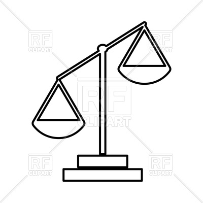400x400 Law Scale Outline Vector Image Vector Artwork Of Objects