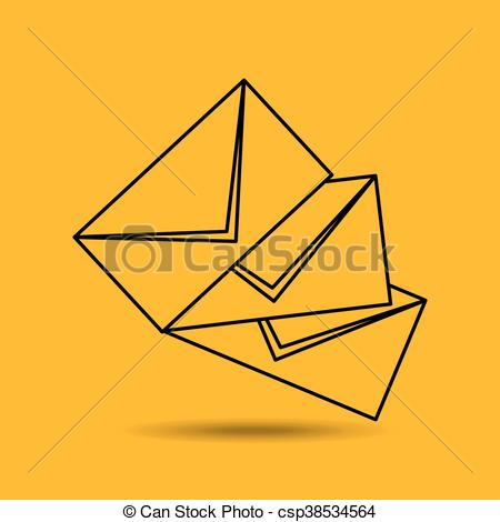 450x470 Letter Mail Design. Letter Mail Desing Isolated, Vector