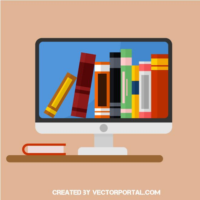 660x660 Online Library Vector Icon