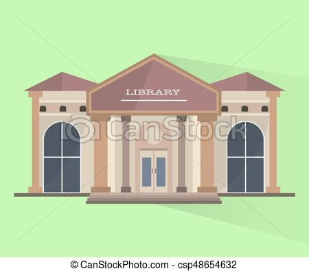 450x395 Building Of Library. Vector Isolated Object. Building Of Library