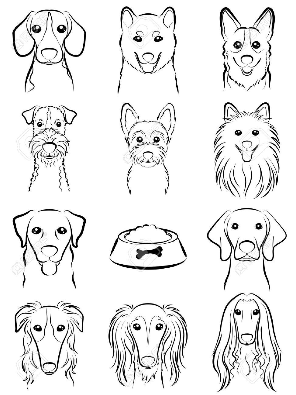 974x1300 Dog Line Drawing Good Paws. Royalty, Drawings