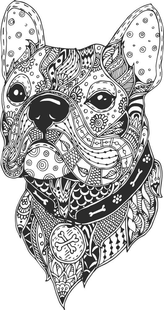 531x1000 Dog Head Line Drawing Vector Free Vector Download