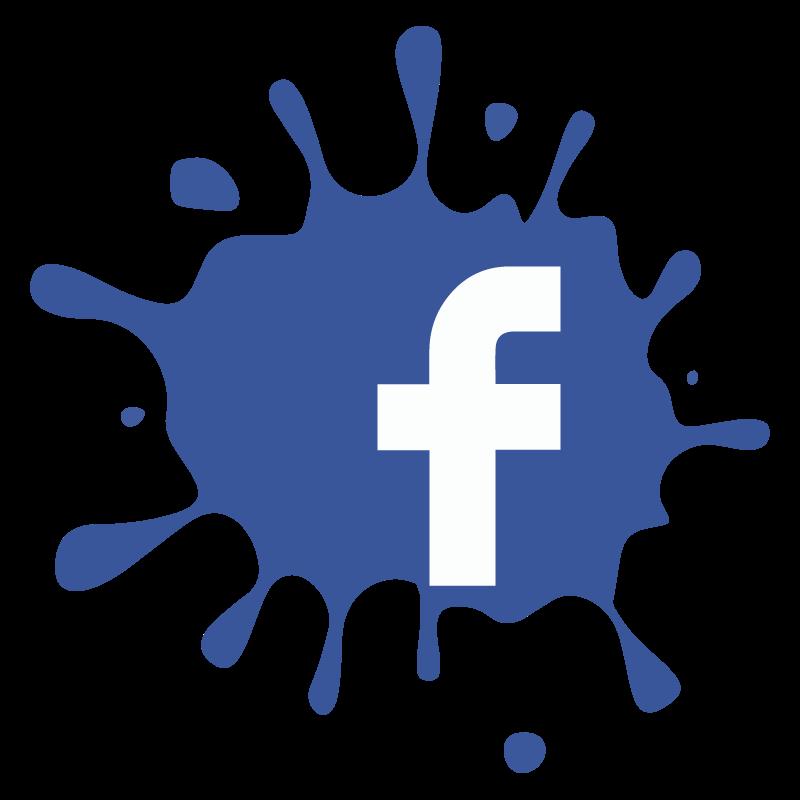 800x800 Facebook F Splat Splash Icon Logo Vector Free Vector Silhouette