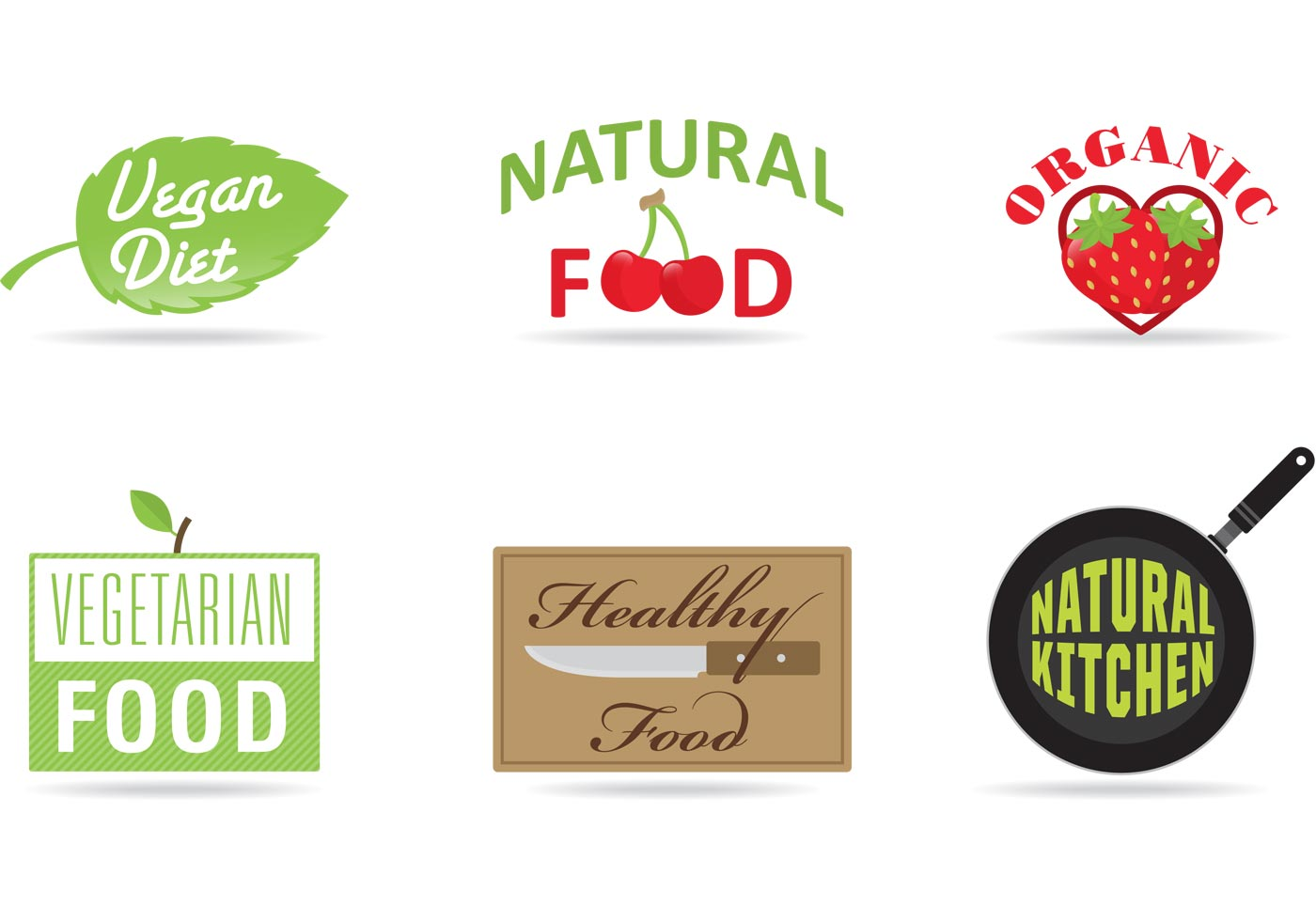 1400x980 Diet And Product Vector Logos