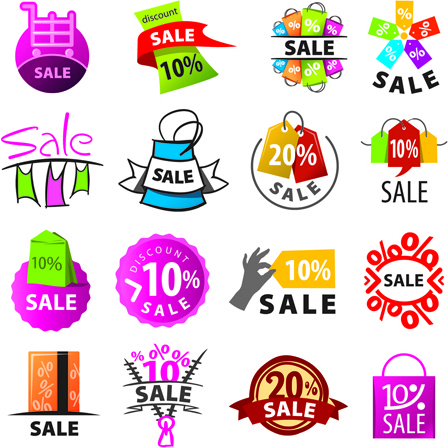 448x448 Exquisite Sale Logos Vector Set Free Vector In Encapsulated
