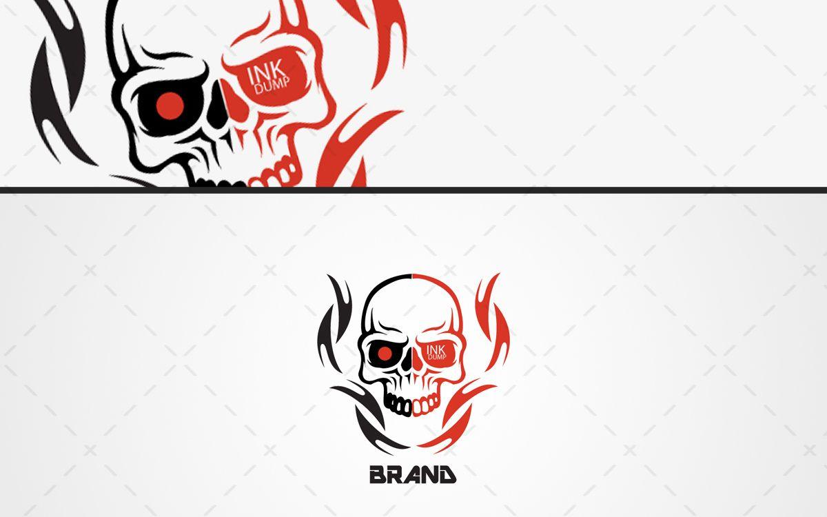 1200x750 Fiery Skull Logo For Sale