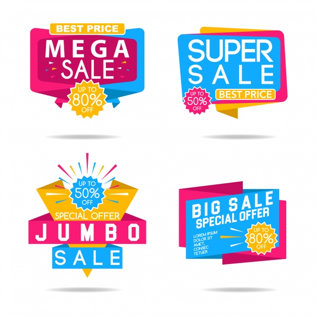 626x626 Multicolor Super Sale Logo Collection Vector Free Download