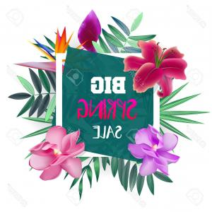300x300 Photostock Vector Design Banner With Spring Sale Logo Card For