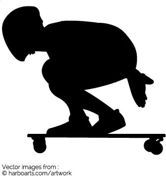 335x355 Download Longboarding Silhouette