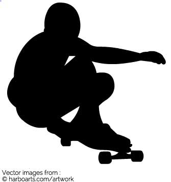 335x355 Download Silhouette Longboarding