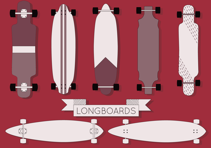 700x490 Free Longboard Vector Free Vectors Ui Download
