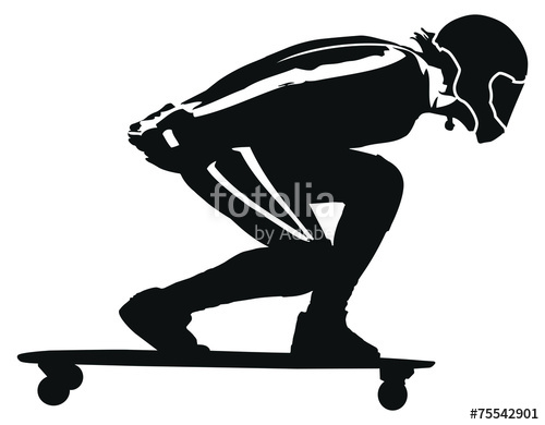 500x390 Longboard Downhill Stock Image And Royalty Free Vector Files On