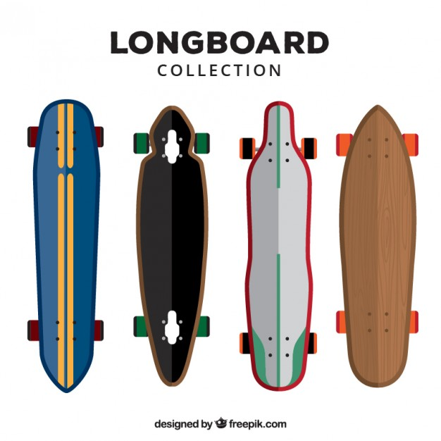 626x626 Longboard Collection In Flat Design Vector Free Download