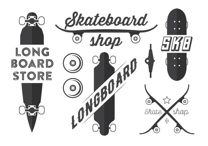 700x490 Skateboard And Longboard Vector Emblems