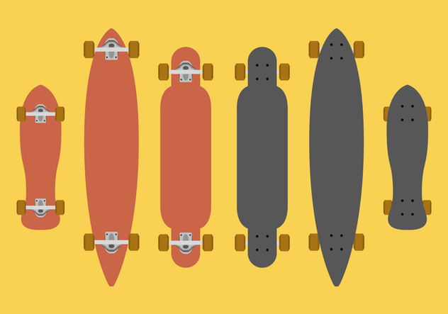 632x443 Vector Longboard Free Vector Download 369673 Cannypic