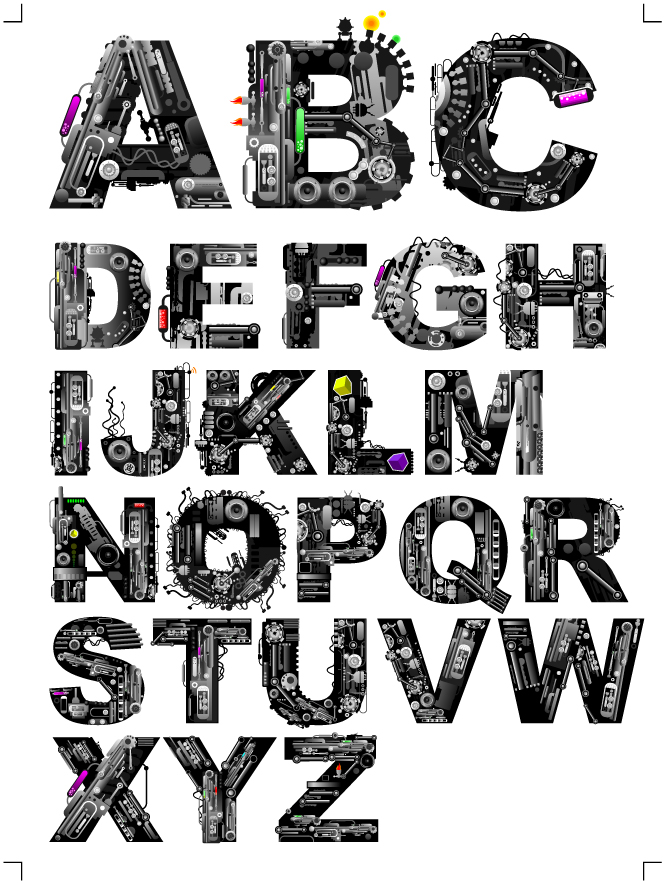 665x884 Theme Of The Letters Vector Machine Free Vector 4vector