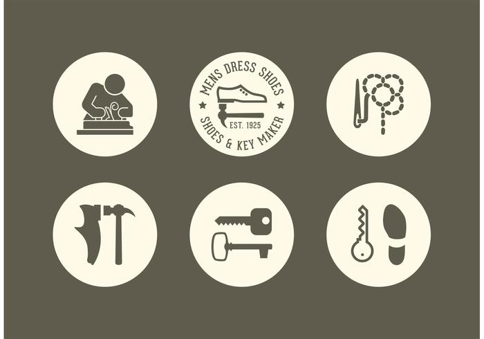 700x490 Free Shoe And Key Maker Vector Icons