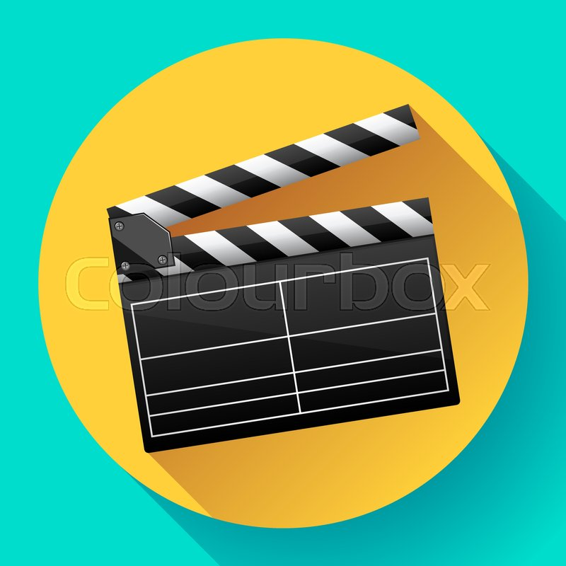 800x800 Movie Clapper Board Movie Maker Vector Cinema Icon Stock Vector