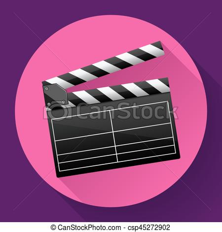 450x470 Movie Clapper Board Movie Maker Vector. Movie Clapper Board Movie