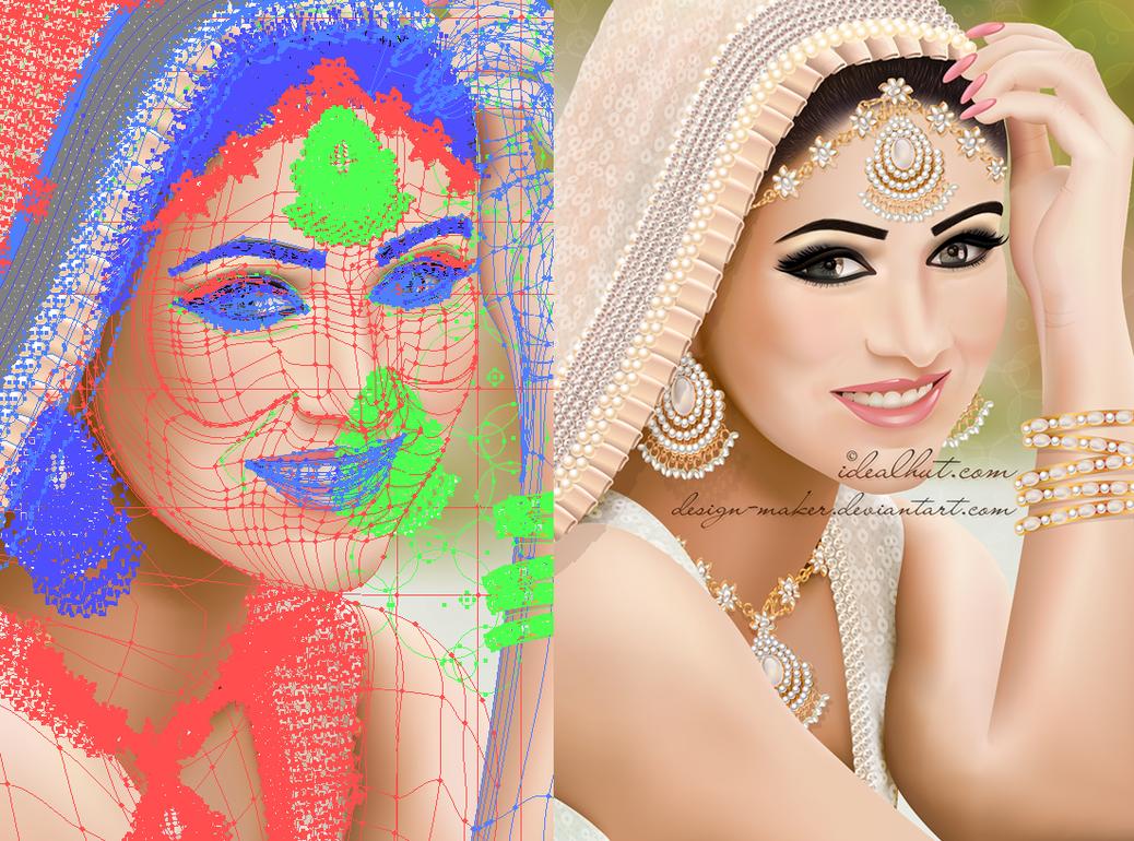 1038x770 Paki Bridal Portrait