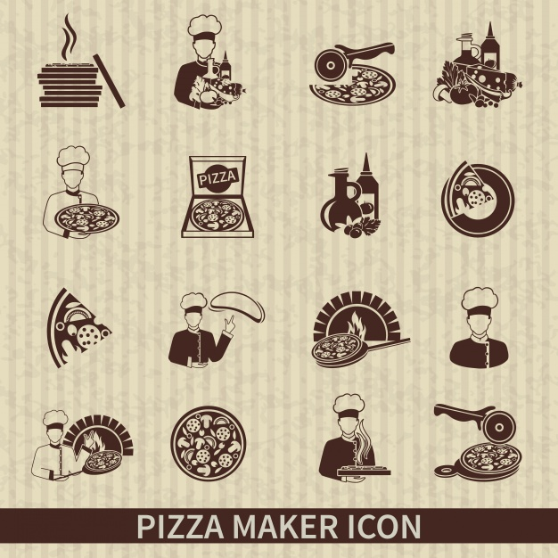 626x626 Pizza Maker Icons Vector Free Download