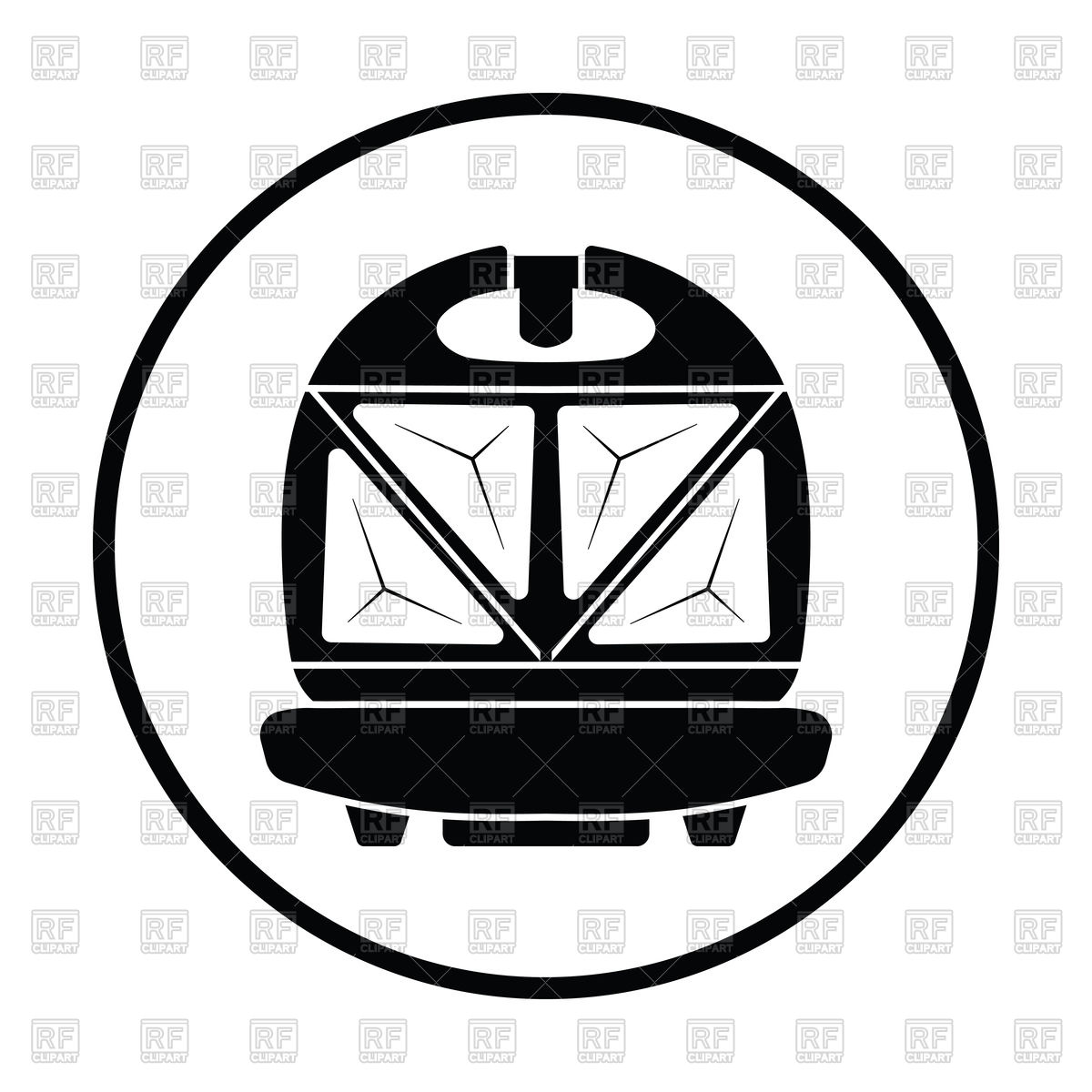 1200x1200 Thin Circle Design Of Kitchen Sandwich Maker Icon Vector Image
