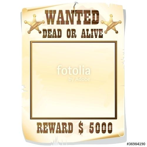500x500 Wanted Dead Or Alive Poster O 2 Vector Maker Juanbruce.co
