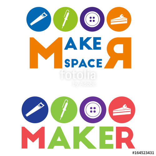 500x500 Maker And Maker Space Logo Design Stock Image And Royalty Free