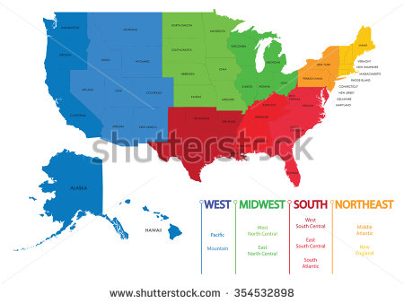 450x338 Vector Map Of Us