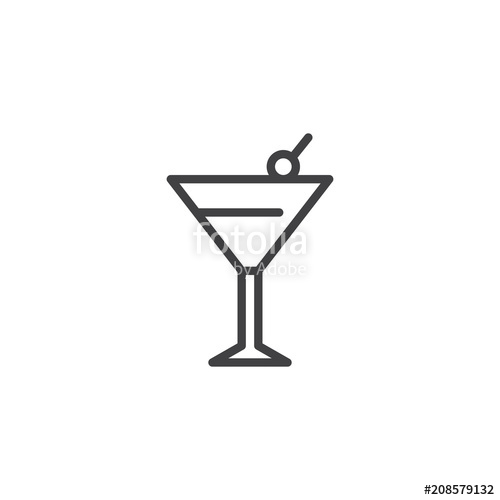 500x500 Margarita Cocktail Drink Outline Icon. Linear Style Sign For