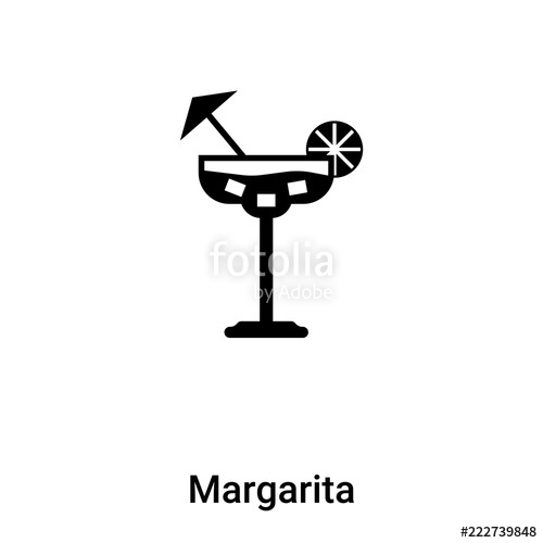 500x500 Margarita Icon Vector Isolated On White Background, Logo Concept