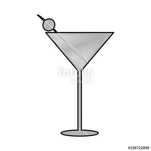 500x500 Margarita Cocktail Cup Icon Vector Illustration Design Stock