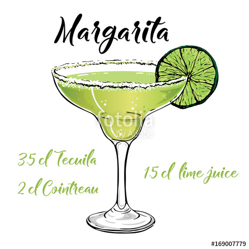 500x500 Margarita Cocktail Vector Stock Image And Royalty Free Vector