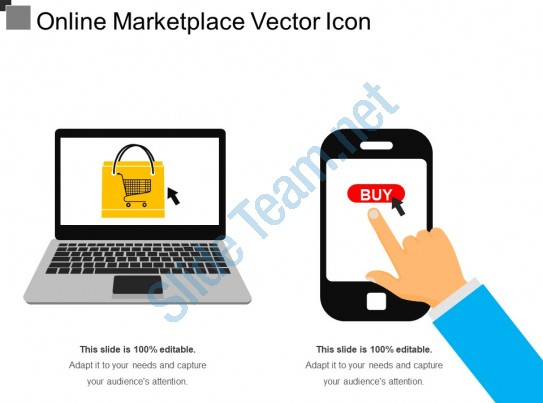 543x403 Online Marketplace Vector Icon Powerpoint Slide Images Ppt