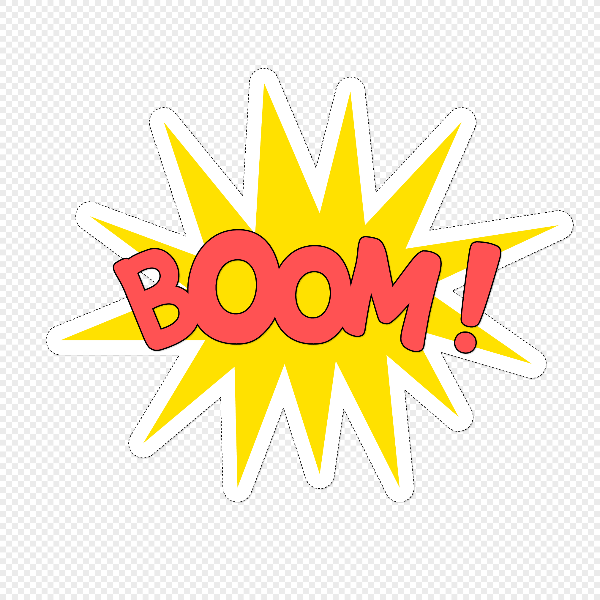 2020x2020 Cartoon Explosion Paste Vector Material Png Image Picture Free